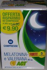 MELATONINA E VALERIANA ACT + 5 FORTE 60 CPR TRIPTOFA. ESCOLZIA NIACINA GRIFFONIA