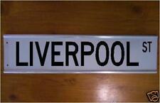 Liverpool Street Sign Road Sign/ Bar Sign Soccer Souvenier