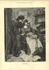 1882 40 guiños Staniland cariño Maid desplume Ganso de Navidad
