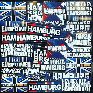 100 x Hamburg Ultra Sticker Inspired By Fan articles Flag Flag Stickers