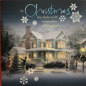 Beautiful Hallmark Thomas Kinkade Painter Of Light  Christmas Card