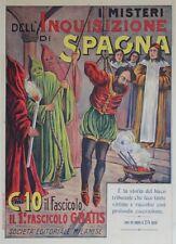 """""""I MISTERI DELL' INQUISIZIONE DI SPAGNA"""" Affiche originale entoilée Litho SASSI"""