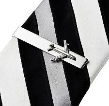 Airplane Tie Clip - Tie Bar - Tie Clasp - Business Gift - Handmade - Gift Box