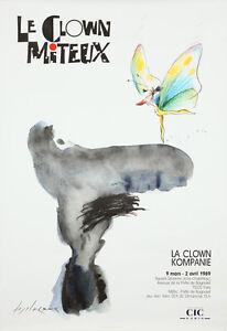 Original Vintage Affiche Le Clown Miteux Français 1989 Fairy Bd Paris Kompanie