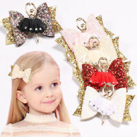 Ballerina Glitter Bow Sparkly Hair Clip Women Hairpin Kids Girls Barrettes