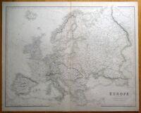 EUROPE, Fullarton original antique map c1860