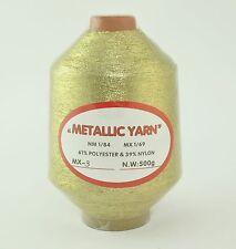 LUREX METALLIC YARN THREAD 500g CONE NEW IN SHRINK WRAP GOLD