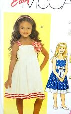 McCALL'S SEWING PATTERN #5569 CHILD'S DRESS AND SASH SIZES 2-5 EASY SUNDRESS