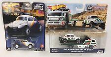 Hot Wheels Team Transport Volkswagen VW Baja Bug Real Riders & Boulevard Set