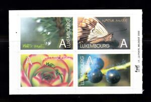 LUXEMBOURG #1099a-d MNH MUSEUM OF NATURAL HISTORY ISSUE (BUTERFLY, BERRIES)