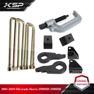 "2001-2010 Chevy GMC Sierra Silverado 2500HD 3"" + 2"" Lift Leveling Kit With Tool"