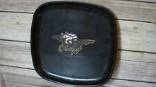 Vintage Couroc Tray Jockey Horse Racers Rounded Square