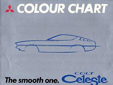 Mitsubishi Colt Celeste Colour & Trim 1975-76 UK Multilingual Foldout Brochure