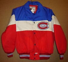 MONTREAL CANADIENS LINED SNAP FRONT JACKET (Size Large)