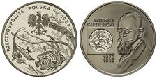2001 Poland Silver Proof  10 Zl-Siedlecki, Zoologist/Fish