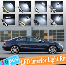 16-pc White Canbus LED Interior Light Bulbs Package Kit Fit 08-2013 Audi A5 S5