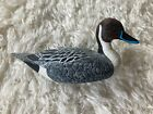 Pintail Duck Wood 1/3 Decoy Glass Eyes Hand Painted Carved Vintage 1985