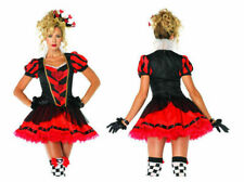 NEW ALICE WONDERLAND DARK HEART QUEEN 2 PC S LEG AVENUE HALLOWEEN PARTY COSTUME
