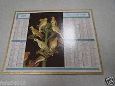 ALMANACH PTT calendrier des postes 1975 oberthur oiseaux dept 54 *