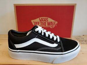 Vans Classic Old Skool Platform Suede Black/White Skateboarding Shoes for Women
