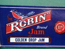 Robin Golden Drop  Jam  paper label Australian
