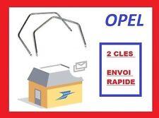 2 clefs d'extraction de démontage facade autoradio stereo OPEL Omega DOUBLE DIN