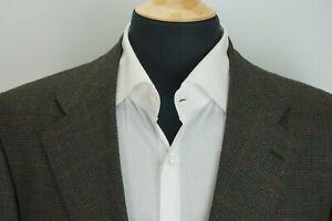 Luciano Barbera Sartoriale Brown Multicolor Check Cashmere Blend Sport Coat 42R
