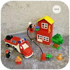 Lego Duplo >> LÖSCHZUG << Feuerwehr-Auto m. Licht&Sound, großes Haus, Zubehör