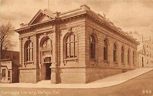 H65/ Vallejo California Postcard c1910 Carnegie Library Building 32