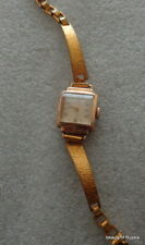 Vintage  Russian Soviet USSR CCCP  solid 14 kt gold women wind up  watch