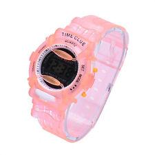 Boys Girl Children Student Waterproof Sport Digital Watch Wrist Sport Watch Pink