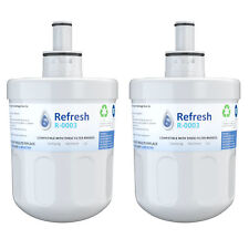 Refresh Replacement Water Filter Fits Samsung RFG298AAWP Refrigerators (2 Pack)