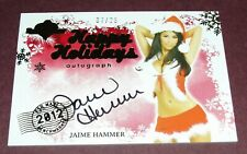 2012 Benchwarmer JAIME HAMMER Holiday #25 AIR MAIL Auto/25 PLAYBOY Penthouse Hot