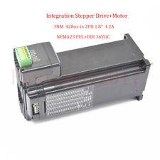 3NM Nema23 Stepper Motor Drive CNC Integrated Controller Kit 428oz-in 2PH 4.2A