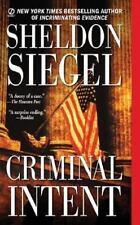 Criminal Intent by Sheldon Siegel (paperback)