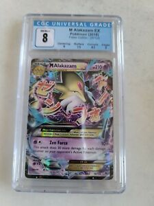 CGC 8 NM / Mint Pokemon Fates Collide 26/124 Mega Alakazam EX