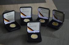 """5 x Goldmünze BRD 100 Euro 2012 """"UNESCO Weltkulturerbe Aachener Dom"""", A,D,G,F,J"""