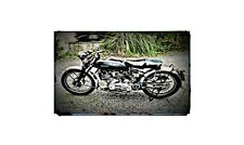 1959 Vincent Rapide Bike Motorcycle A4 Retro Metal Sign Aluminium