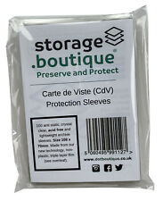 Storage.boutique CDV Protection Sleeves Crystal Clear Acid 108x70mm 100