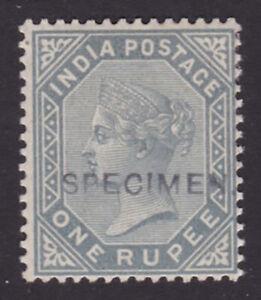 India. 1883. SG 101s, 1r slate, specimen. Fine mounted mint.