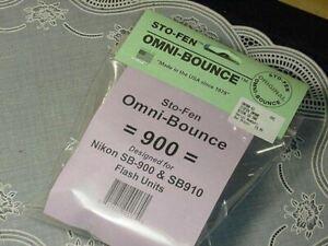 STO-FEN Omni-Bounce 900 Designed for Nikon SB-900 & SB910 NEW IN PACKAGE!