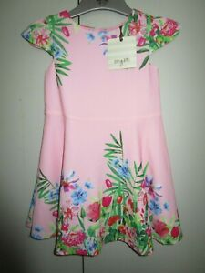 Girls Origami pink party dress with cap sleeves    Size 2    NWT