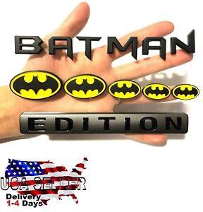BATMAN FAMILY EDITION Emblem Exterior TRUCK LOGO DECAL SIGN RED NECK CAR NEW*