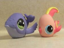 Littlest Pet Shop LPS #643 Angelfish #644 Whale with tear drop eyes