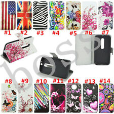 Flip Magnetic Wallet PU leather stand Soft Silicone phone cover case for MOTO