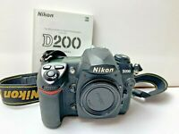 Nikon D200 10.2 MP Digital SLR Camera BODY For REPAIR includes Manual & Strap