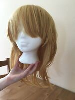 Vocaloid Kagamine Len Rin anime cosplay wig blonde long