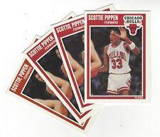 1989-90 FLEER SCOTTIE PIPPEN  (4 CARDS) # 23 CHICAGO BULLS