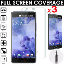 3x FULL SCREEN Face Curved TPU Screen Protector Cover Guards For HTC U Ultra