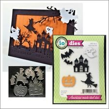 Halloween Set metal die Impression Obsession cutting dies DIE114-O house witch